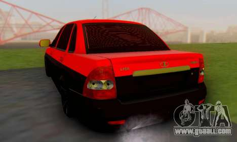 Lada Priora Glers Project for GTA San Andreas left view