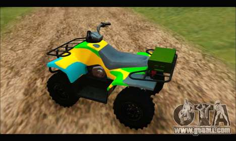ATV Color Camo Army Edition for GTA San Andreas back left view