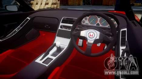 Honda NSX-R for GTA 4 inner view