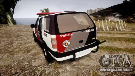 Chevrolet Blazer 2010 Tactical Force [ELS] for GTA 4 back left view