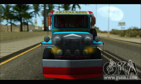 Jeepney Legacy for GTA San Andreas left view