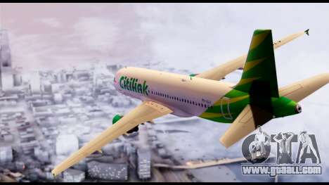 Citilink Airbus A320 PK-GLV for GTA San Andreas left view