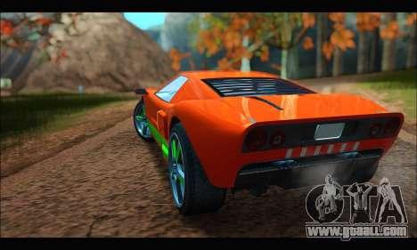 Vapid Bullet Gt (GTA IV TBoGT) (IVF) for GTA San Andreas back view