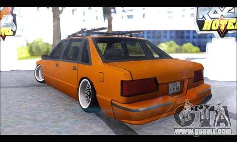 Taxi Extreme Tuning (Hellalfush) for GTA San Andreas back left view