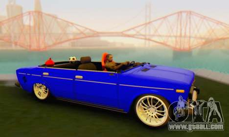 VAZ 2106 Convertible for GTA San Andreas back left view