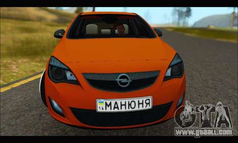 Opel Astra J for GTA San Andreas left view