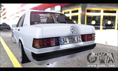 Mercedes Bad-Benz 190E (34 DDK 82) for GTA San Andreas right view