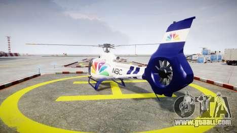Eurocopter EC130 B4 NBC for GTA 4 back left view