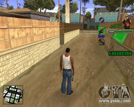 C-HUD Grove St. for GTA San Andreas third screenshot