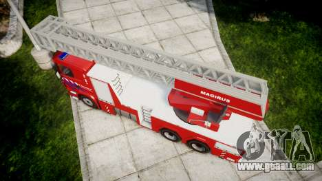 Scania R580 Dutch Fireladder [ELS] for GTA 4 right view