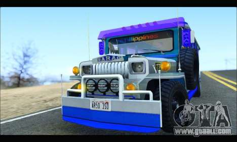 Light Jeepney for GTA San Andreas inner view