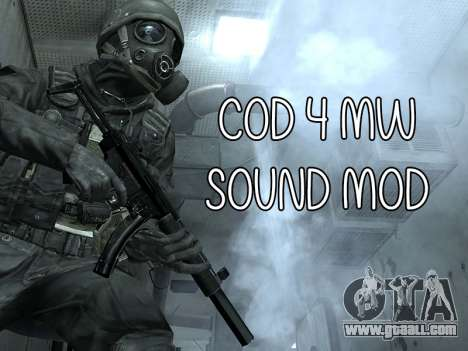 COD MW Sound Mod for GTA San Andreas
