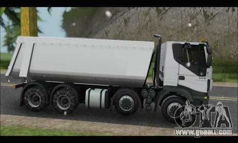 Iveco Trakker 2014 Tipper Snow for GTA San Andreas left view