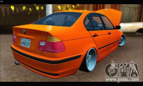 BMW e46 Sedan for GTA San Andreas back left view