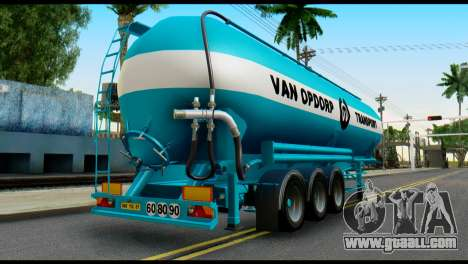 Mercedes-Benz Actros Trailer VAN OPDORP for GTA San Andreas left view
