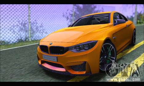 BMW M4 F80 Coupe 1.0 2014 for GTA San Andreas