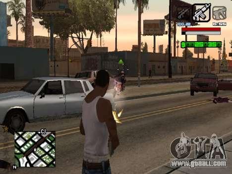 Nice C-HUD for GTA San Andreas second screenshot