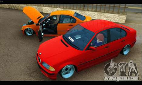 BMW e46 Sedan for GTA San Andreas inner view