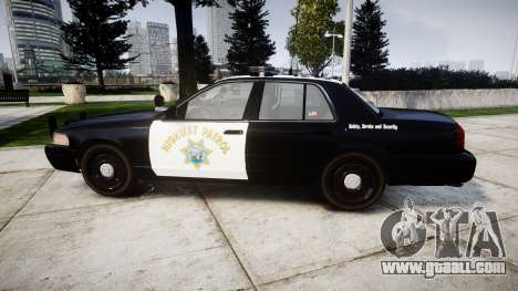 Ford Crown Victoria Highway Patrol [ELS] Liberty for GTA 4 left view