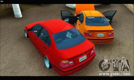 BMW e46 Sedan for GTA San Andreas back view