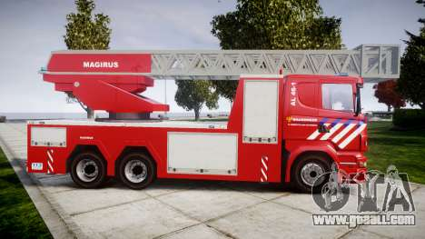Scania R580 Dutch Fireladder [ELS] for GTA 4 left view