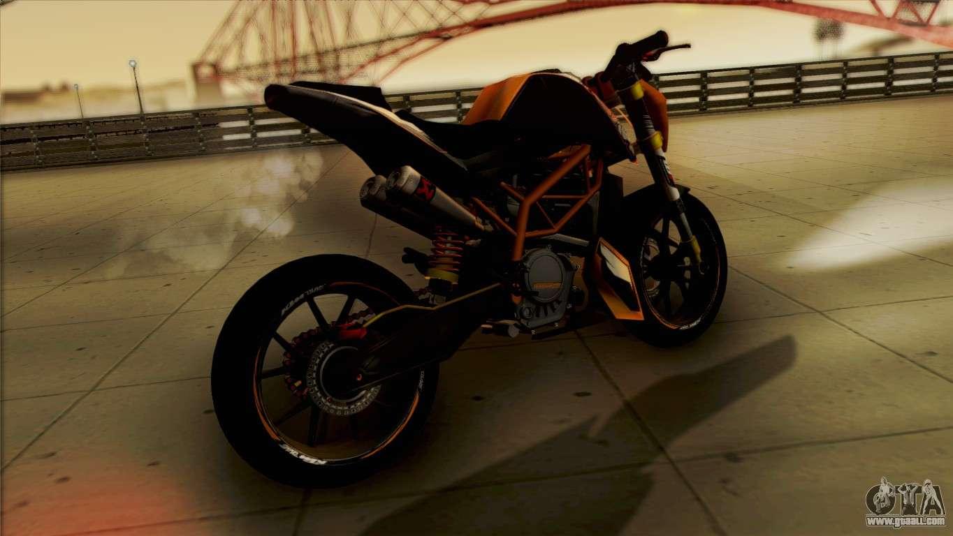 KTM Duke 125 for GTA San Andreas