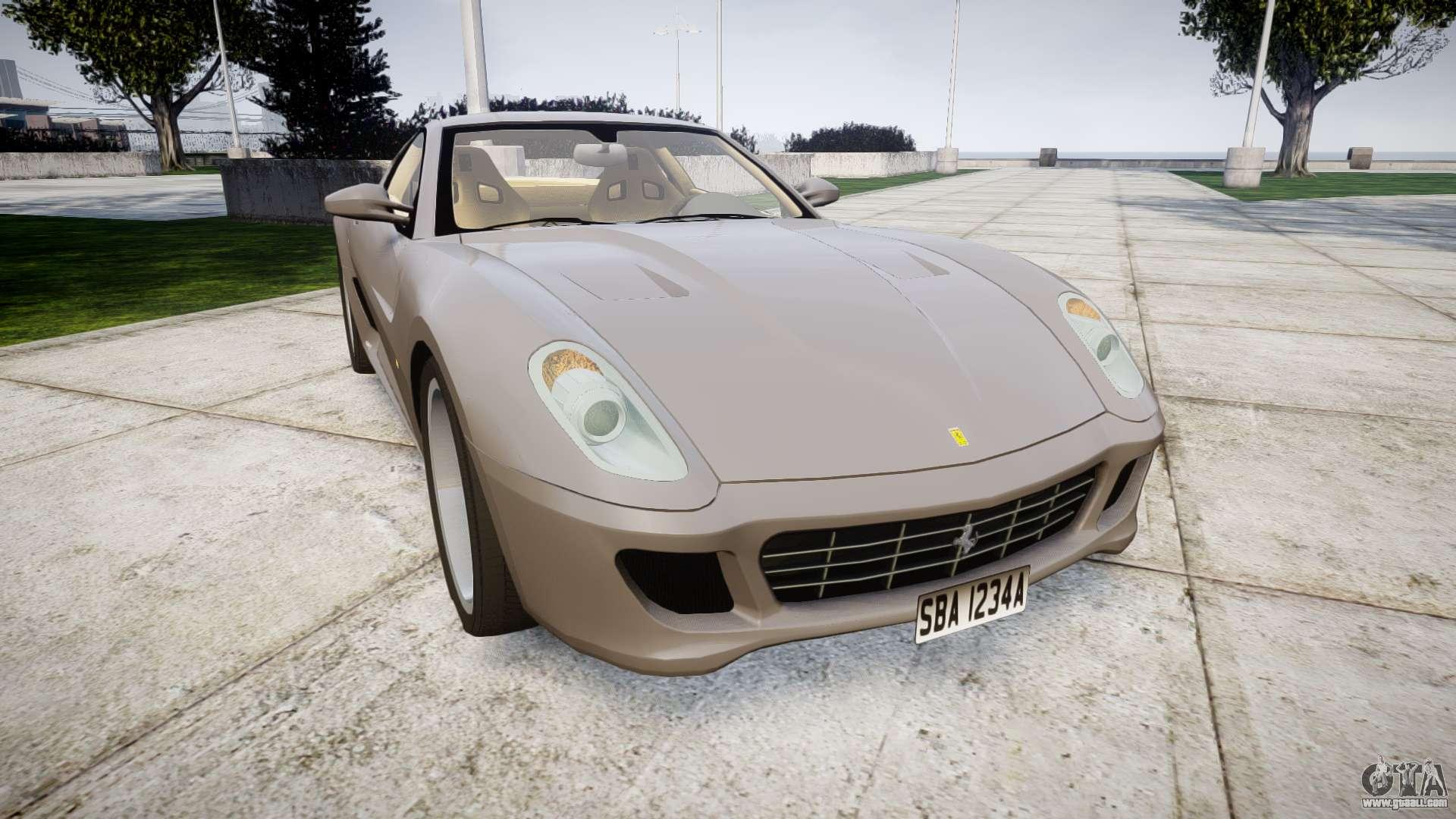 Ferrari f599 xx evoluzione simple carbonfiber for gta 4 ferrari 599 gtb 2006 hamann vanachro Images