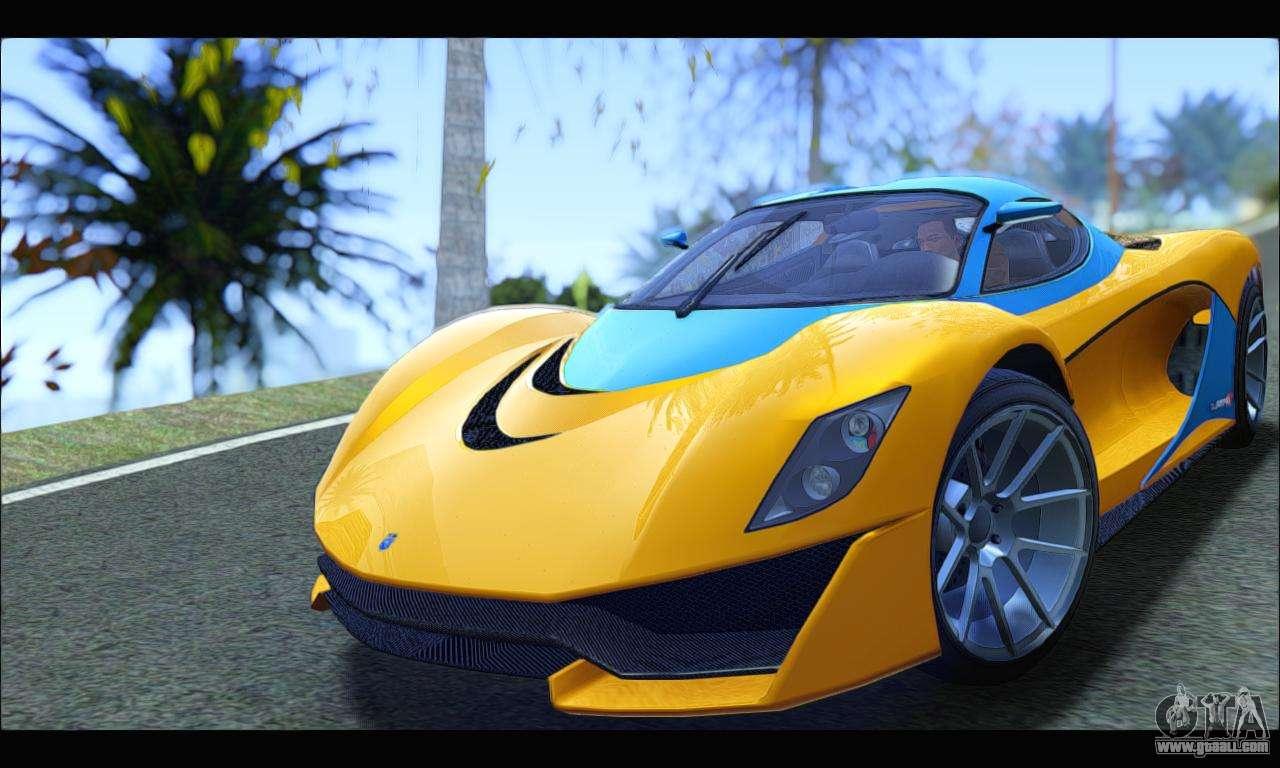 Grotti Turismo R v2 (GTA V) (IVF) for GTA San Andreas