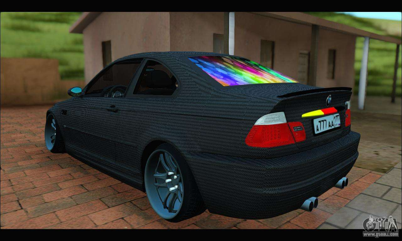 bmw m3 e46 carbon for gta san andreas. Black Bedroom Furniture Sets. Home Design Ideas