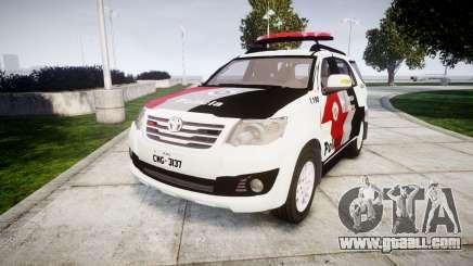 Toyota Hilux SW4 2015 Forca Tatica [ELS] for GTA 4