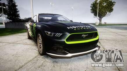 Ford Mustang GT 2015 Custom Kit monster energy for GTA 4
