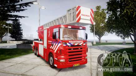 Scania R580 Dutch Fireladder [ELS] for GTA 4