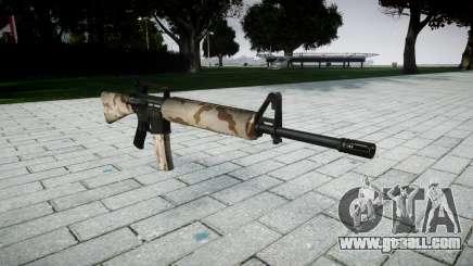 The M16A2 rifle sahara for GTA 4