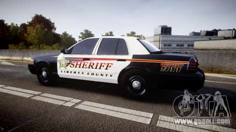 Ford Crown Victoria Sheriff [ELS] rims1 for GTA 4 left view