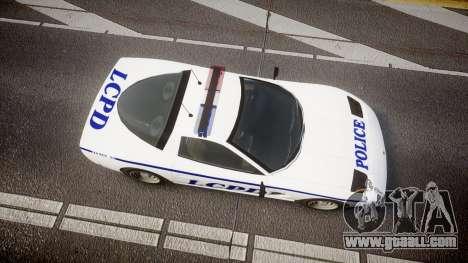 Invetero Coquette Police Interceptor [ELS] for GTA 4 right view
