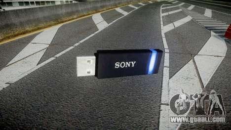 USB flash drive Sony blue for GTA 4