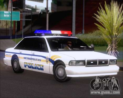 Police LS Metropolitan Police for GTA San Andreas left view