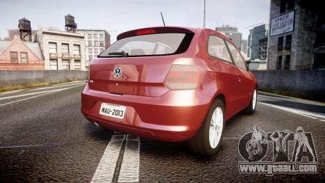 Volkswagen Gol G6 iTrend 2014 rims1 for GTA 4 back left view