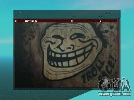 Sampgui TrollFace for GTA San Andreas