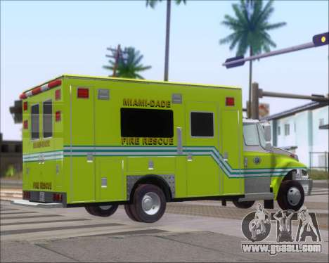 Pierce Commercial Miami Dade Fire Rescue 12 for GTA San Andreas back left view