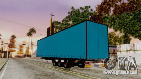 Volvo FH12 Low Deck Trailer for GTA San Andreas back left view