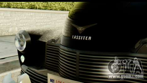 Lassiter Series 75 Hollywood for GTA San Andreas back left view