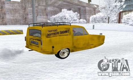 Reliant Supervan Only Fools and Horses for GTA San Andreas back left view