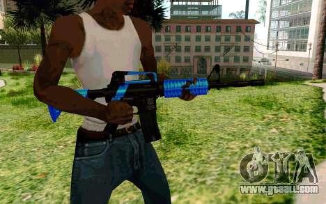 M4 Blue for GTA San Andreas third screenshot