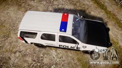 Chevrolet Tahoe 2010 Sheriff Dukes [ELS] for GTA 4 right view