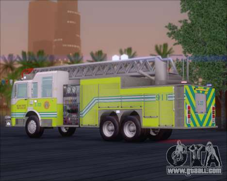 Pierce Arrow XT Miami Dade FD Ladder 22 for GTA San Andreas back left view