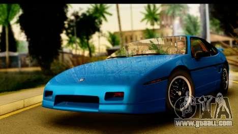 Pontiac Fiero GT G97 1985 IVF for GTA San Andreas back left view