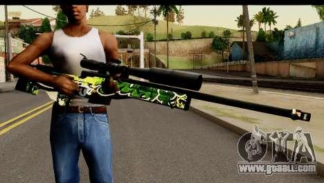 Grafiti Sniper Rifle for GTA San Andreas third screenshot