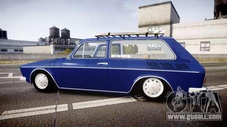 Volkswagen 1600 Variant 1973 for GTA 4 left view