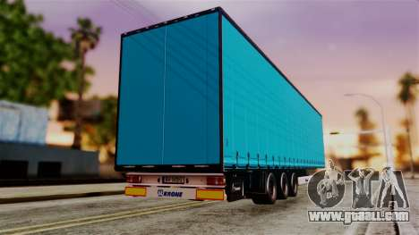 Volvo FH12 Low Deck Trailer for GTA San Andreas left view